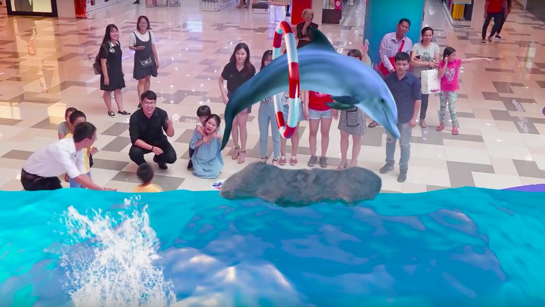 Gặp gỡ cá heo, rùa biển và hải cẩu với công nghệ AR