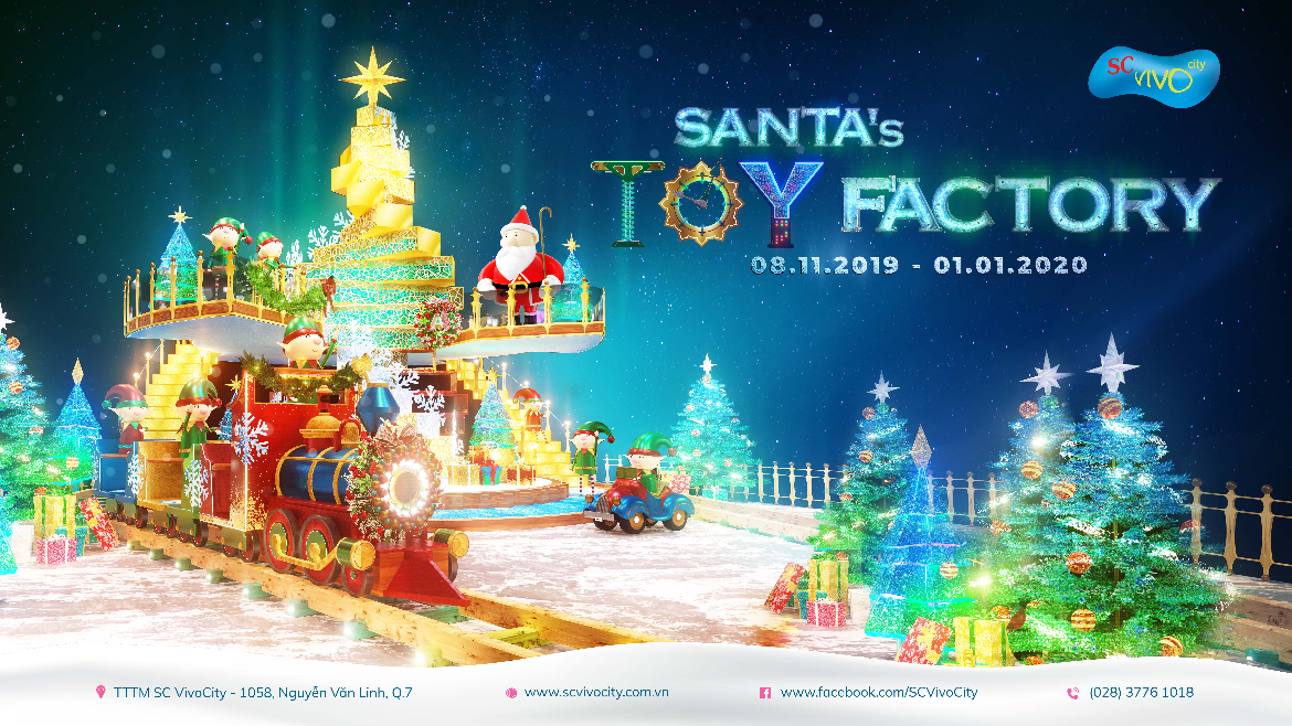 A MERRY CHRISTMAS  WITH SANTA'S TOY FACTORY AT SC VivoCity