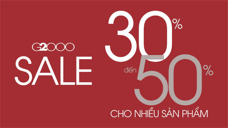 Giảm giá từ 30% đến 50% cho một số sản phẩm
