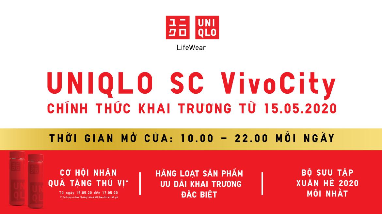 UNIQLO SC VivoCity chính thức khai trương từ ngày 15 tháng 5
