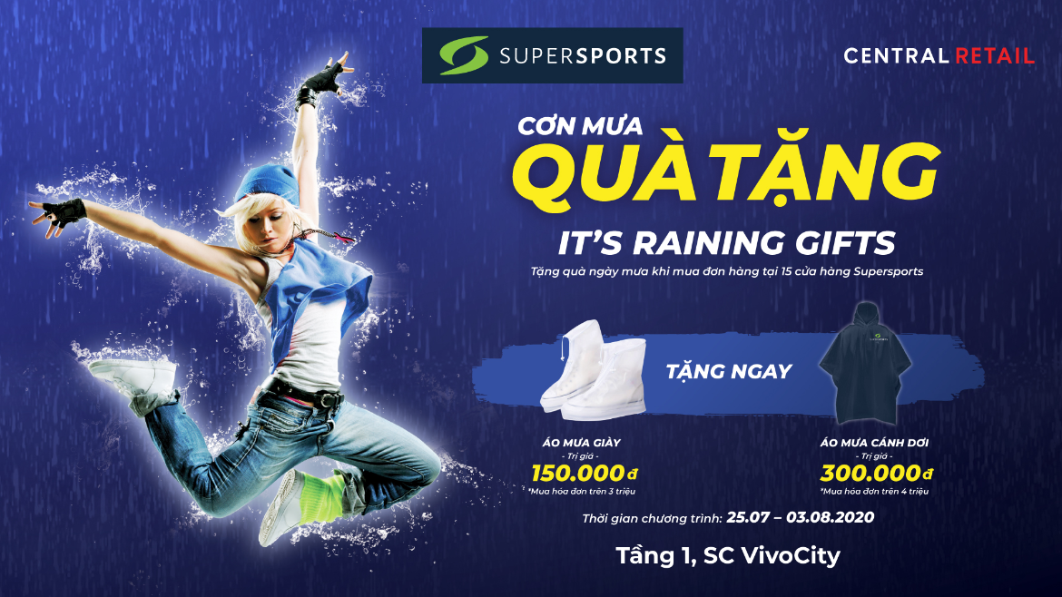 IT'S RAINING GIFTS - 5000+ RAINY-DAY GIFTS AT SUPERSPORTS