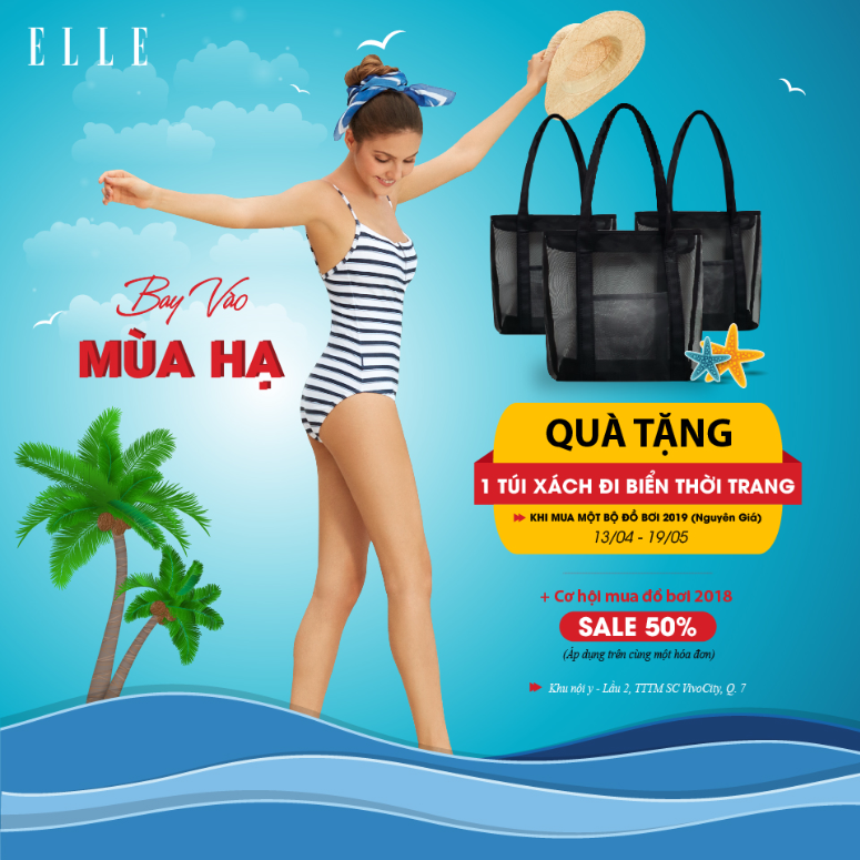 SPECIAL GIFT TO WELCOME ELLE NEW SWIMWEAR COLLECTION 2019 ELLE