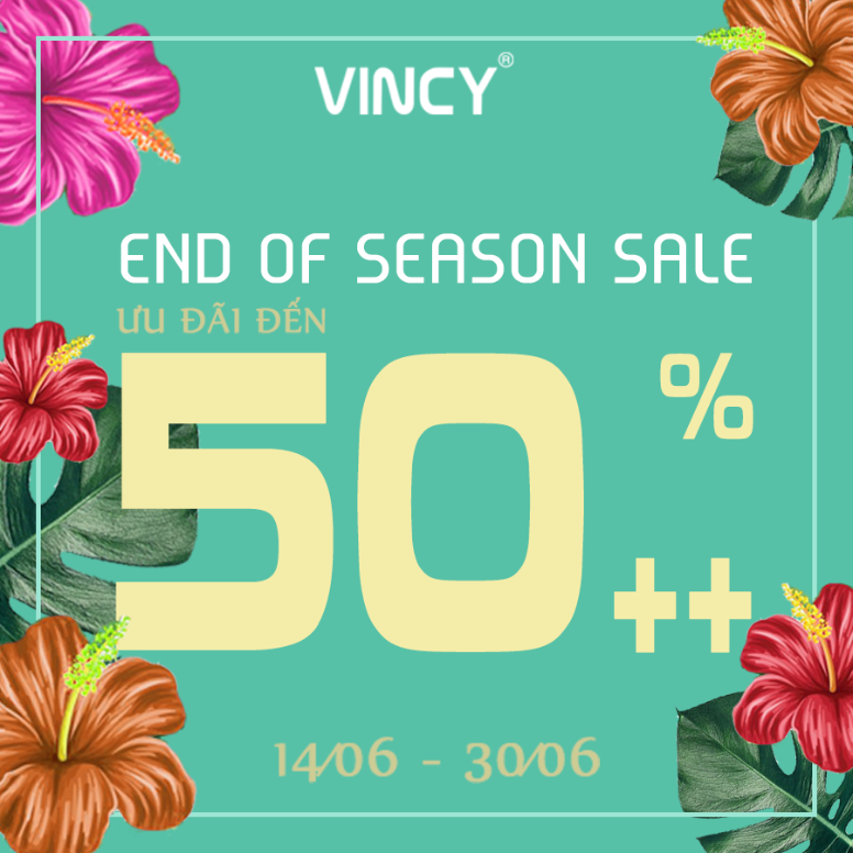 VINCY END OF SEASON SALE – UP TO 50% ++