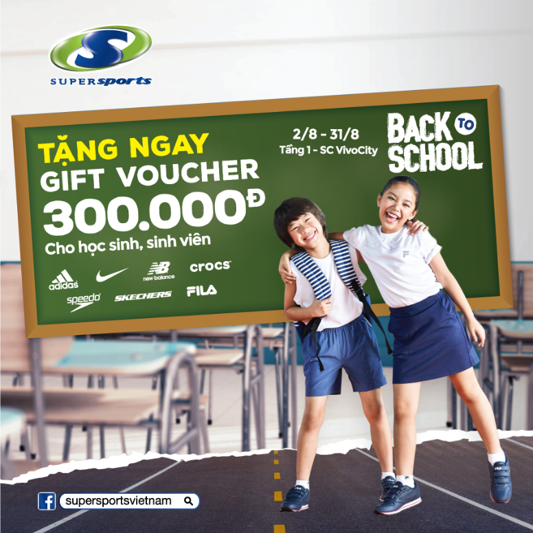 [BACK TO SCHOOL] cùng [SUPERSPORTS]