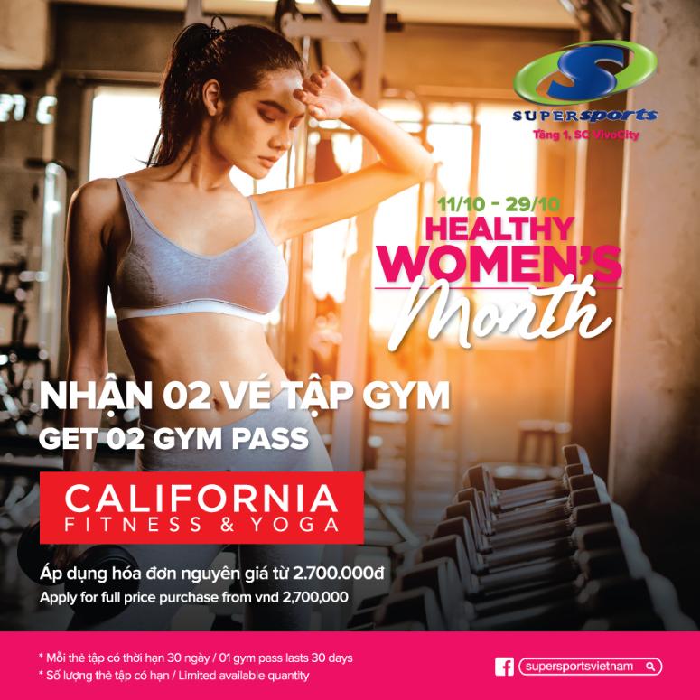 [Healthy Women's Month] Chào đón tháng của phái đẹp