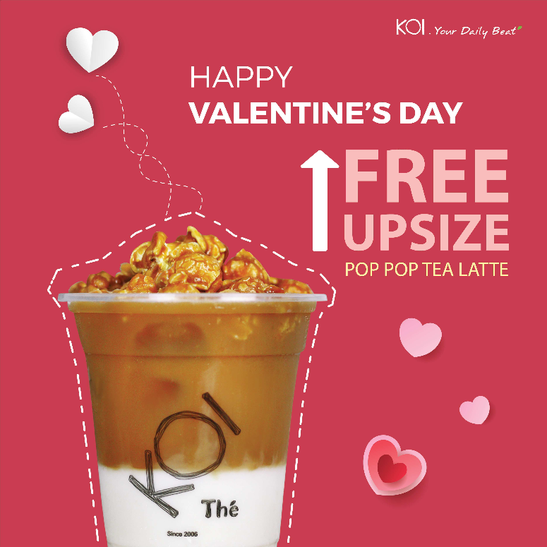 POP POP FREE UPSIZE - HAPPY VALENTINE