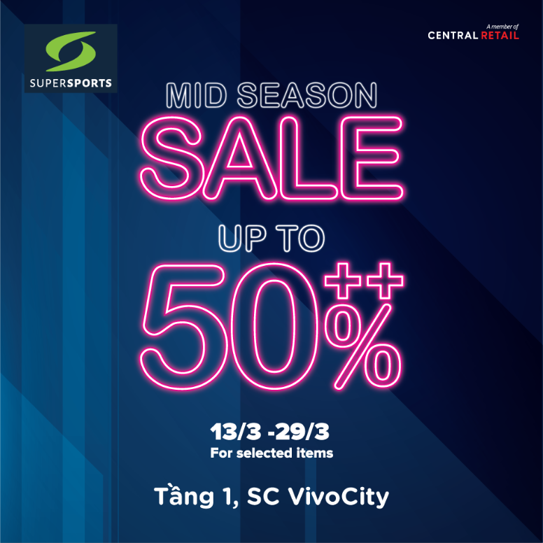 MID SEASON SALE TẠI SUPERSPORTS