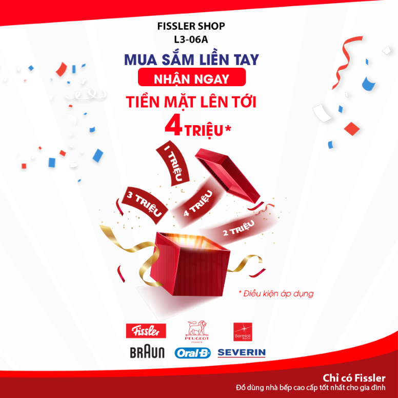 SPECIAL PROMOTION FROM FISSLER SHOP