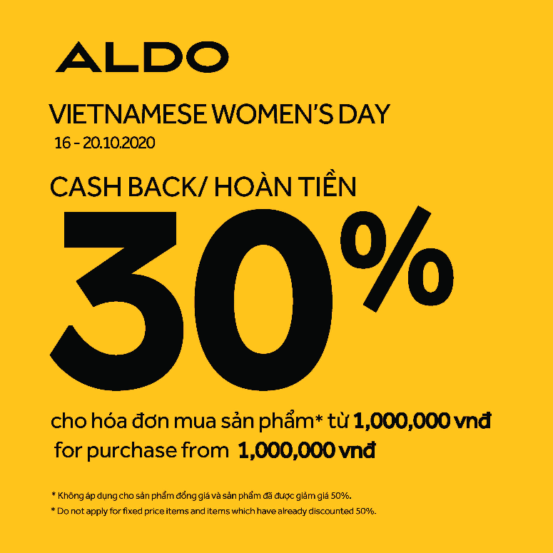 ALDO CASH BACK 30%