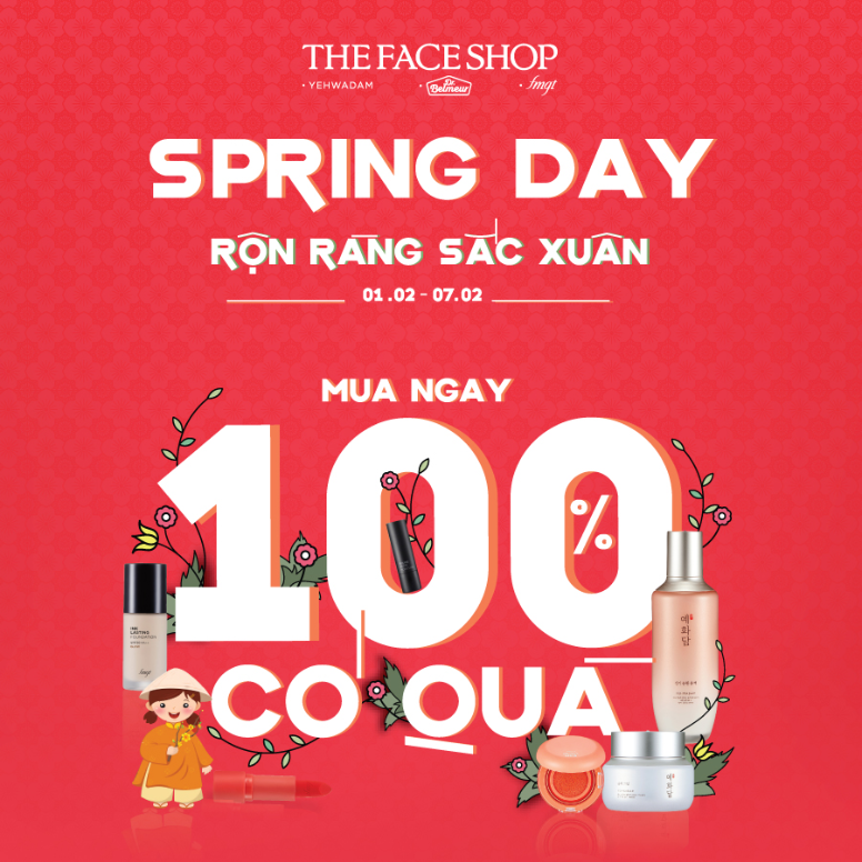 HAVING GORGEOUS APPEARANCE FOR TET HOLIDAY WITH SPRING SALE 2021 FROM THEFACESHOP