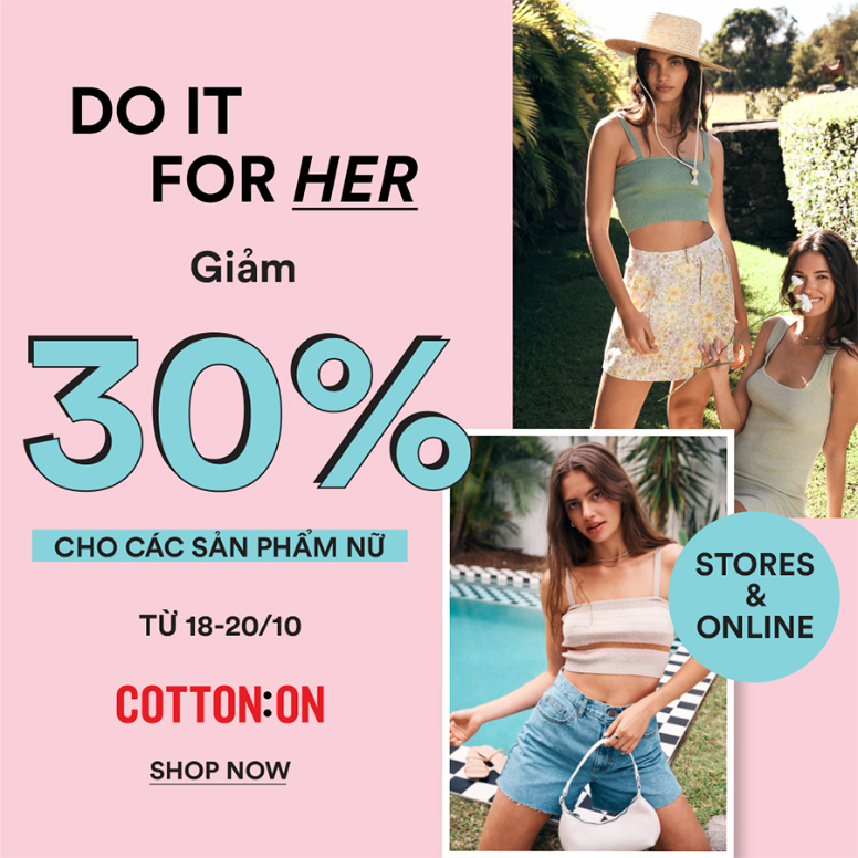 DO IT FOR HER - 30% OFF ALL WOMEN'S ITEMS
